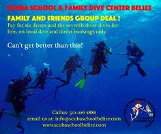 This is what's new! Now we offer group discount, take advantage of this great deal most book direct. #scubaschoolbelize #padi #scubadiving #ambergriscaye #vacation #thegreatbluehole #SanPedro #scuba