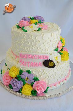 Pastel De Baby Shower #bienvenida #cake #loschatos #puertovallarta # Babyshower Loschatos.