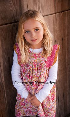 Paisley and Roses Double Flutter Vintage Style Tunic- by Charming Necessities  Trendy Girls Boutique Clothing for Spring Summer 2016