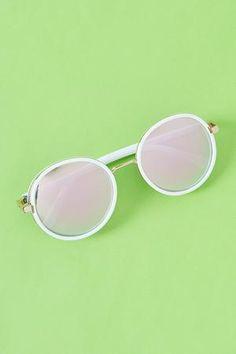 Hazel | Women's Round Mirrored Glitter Sunglasses