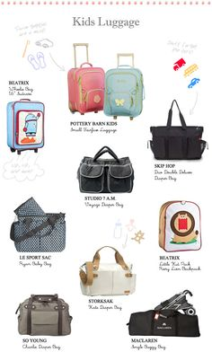 Summer Travel Guide - Kids luggage