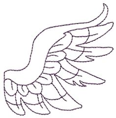 Angel Wing 5 - 2 Sizes! | Angels | Machine Embroidery Designs | SWAKembroidery.com Stitch-Ville