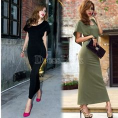 $ 7.64 Summer Sexy Long Cocktail Evening Dress Party Backless Beach Maxi Dress Two Colours