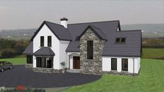 Farmhouse House Plans 4 Bedroom Country Homes 36 Ideas Family House Plans, Cottage House Plans, Dream House Plans, Cottage Homes, Dormer House, Dormer Bungalow, Modern Bungalow Exterior, House Designs Ireland, House Front
