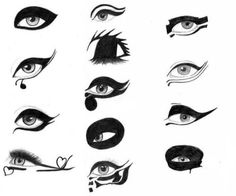 Lady Gaga 2011 eyeliner reference. AGAIN. Probably done about 2-3 or these already.