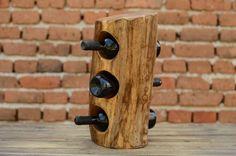 Oak+wood+wine+rack,+Wine+storage,+stump+wine+rack,+Kitchen+decor,+Wine+lovers+gift,+Wine+bottles+holder,+Natural+wood+wine+rack