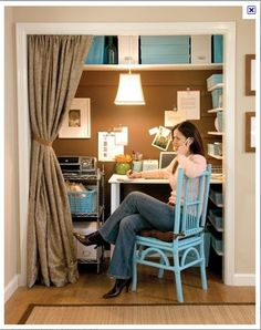 small office idea...just don't know if I can afford to give up closet space.
