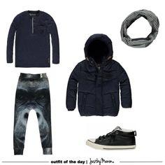 Dark blue for boys #blue #denim #boys #fashion #kidsfashion #styling #bootd
