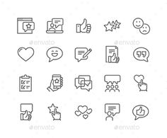 Line Testimonials Icons. Download here: https://graphicriver.net/item/line-testimonials-icons/17261224?ref=ksioks