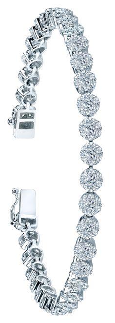 The stunning Heru Bracelet by Coronet Diamonds has 3.40 carats of diamonds. ~ This is stunningly beautiful!!! I want it ❤️