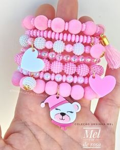 Arm Candy Bracelets, Cute Bracelets, Handmade Bracelets, Handmade Jewelry, Beaded Bracelets, Little Girl Jewelry, Kids Jewelry, Diy Fairy Wings, How To Make Headbands