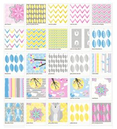 Little Grey Fox Fabric Swatch Library for by thelittlegreyfox, $50.00