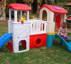 Mangrullos infantiles para niños, Juegos de madera con tobogan y ...