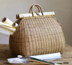 Pottery Barn Handbag Basket