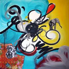 "Saatchi Art Artist Flor Echevarria; Painting, ""The elephant"" #art"