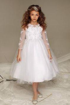 4186c3c6e3e9 3/4 Sleeves lace appliques tulle dress C326 3/4 Sleeves lace appliques  tulle dress C326