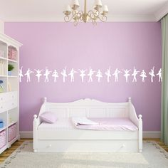 Sweetums Ballerina Border Wall Decal 30-inch wide x 12-inch tall