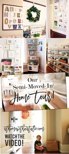 We moved into our house weeks ago. I'm excited to share a Home Tour Video! Sharing details on our Gallery Walls, Shiplap Projects and Alphabet Wall!