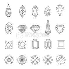 Diamond design elements Royalty Free Stock Vector Art Illustration