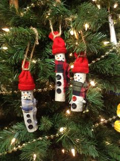Birch tree stick snowmen- 1997. I made a small, medium and large one for my 3 sons several years ago.  Super Easy ornament!