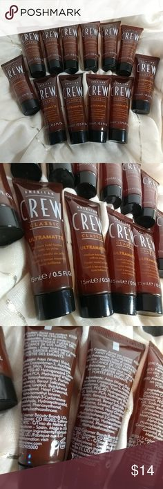 12 American Crew Classic Ultramatte Hair Gel 12 -- American Crew Ultramatte Medium Hold (0.5 Oz. per tube)  This medium-hold fixative has a matte finish and moisturizers that improve the hair's health and thickness. It's designed to stand up to all the elements, so you get looks that last. Other