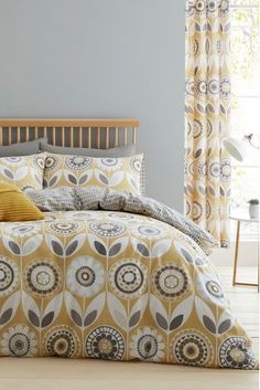 Buy Catherine Lansfield Annika Floral Duvet Cover and Pillowcase Set from the Next UK online shop Modern Prints, Mid-century Modern, H & M Home, Teal And Grey, Duvet Bedding Sets, Duvet Cover Sets, Home And Living, Home Furnishings, Pillow Cases
