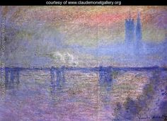 Charing Cross Bridge - Claude Oscar Monet - www.claudemonetgallery.org