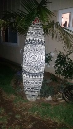 Mandala surfboard art More