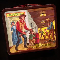 The Rifleman Lunch Box (Vintage 1960 Lunchbox, Antique Aladdin Metal Lunchboxes)