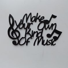 Make You Own Kind Of Music stacked by LeatonMetalDesigns on Etsy