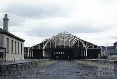 The overall roof of Bath Green Park, although devoid of glass and badly in need of a coat of paint, still lends the derelict station an air of importance in this autumn 1967 view. In December of that year the City Council made use of the site as a tempora Old Train Station, Train Stations, Abandoned Train, Abandoned Places, Uk Rail, Disused Stations, Steam Railway, Southern Railways, Railway Posters