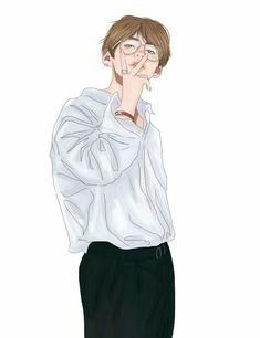 both fluff and smut fanarts. Not my fanarts! Bts Taehyung, Taehyung Fanart, Kpop Fanart, V Chibi, V Bts Wallpaper, Bts Wallpaper Iphone Taehyung, Anime Lindo, Kpop Drawings, Fan Art