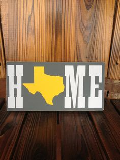 HOME State Custom Sign  You Pick The Colors by FussyMussyDesigns, $10.00