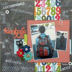 #papercraft #scrapbook #layout Back to School Layouts