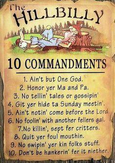 Redneck 10 Commandments