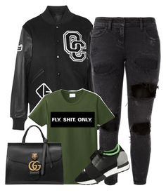 """Untitled #1770"" by siedahsimmons ❤ liked on Polyvore featuring Opening Ceremony, Faith Connexion, Balenciaga and Gucci"