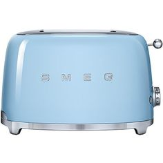 Smeg 2-slice Toaster (565 SAR) ❤ liked on Polyvore featuring home, kitchen & dining, small appliances, pastel blue, bread toaster, 2 slice toaster, smeg and two slice toaster