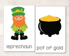 St Patrick's Day set of 28 vocabulary flash cards, great for any literacy center or writing center! #busylittlebugs #stpatricksday #tptpins