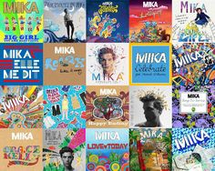 Mika the albums & singles art in one handy collage