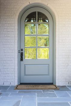 We will be looking into exterior door design ideas, after all, they're the welcoming point to your home. Get going and check the exterior door design that. Front Door Awning, Arched Front Door, Front Door Entryway, Front Doors With Windows, Arched Doors, Glass Front Door, Arched Windows, Entrance Doors, Barn Doors