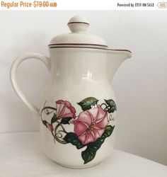 SAVE 30% NOW Villeroy & Boch Palermo Coffee Pot and Lid 1970s design
