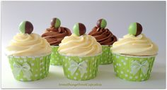 Chocolate Mint Areo Cupcakes