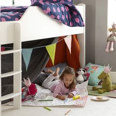 Maximize bedroom space with a Juicy Fruits children's mid sleeper bed (left-hand ladder). A space saving super star this bed has bundles of storage. Childrens Mid Sleeper Beds, Childrens Cabin Beds, White Mid Sleeper, Juicy Fruit, New Beds, 6 Years, Space Saving, Ladder, Mattress