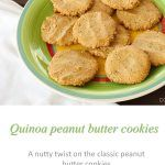 Quinoa peanut butter cookies