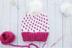 Fair-Isle Crochet Hat Pattern #CrochetBeanie
