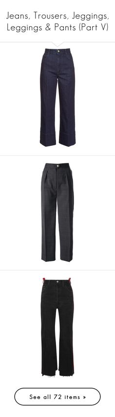 """""""Jeans, Trousers, Jeggings, Leggings & Pants (Part V)"""" by plnzh ❤ liked on Polyvore featuring jeans, pants, bottoms, stella mccartney, indigo, stretchy high waisted jeans, high waisted stretch jeans, high rise wide leg jeans, stretch blue jeans and cropped jeans"""