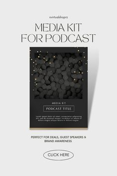 Are you a podcaster that wants to grow your audience, listeners, get guest speakers and work with brands? then you NEED a media kit. #PodcastGrowth Media Kit Template, Instagram Square, Guest Speakers, Instagram Story Template, Creative Business, Case Study, Cover Design, Templates, Lettering