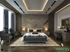 Master Bedroom in Settlement on Behance design master modern Master Bedroom in Settlement House Ceiling Design, Ceiling Design Living Room, Bedroom False Ceiling Design, Master Bedroom Interior, Room Design Bedroom, Modern Master Bedroom, Bedroom Furniture Design, Bedroom Layouts, Bedroom Ideas