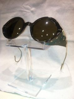 d303f211fce Giorgio Armani Sunnies with attached Leather Side Shields.
