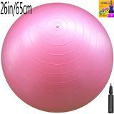 Fitness Ball: Pink, 26in/65cm Diameter, Includes 1 Ball +1 Pump + 1 Page Instruction Chart. No instructional DVD. (Exercise Gym Swiss Stability Ball) - http://47yoga.com/fitness-ball-pink-26in65cm-diameter-includes-1-ball-1-pump-1-page-instruction-chart-no-instructional-dvd-exercise-gym-swiss-stability-ball/  Fitness Ball: Pink, 26in/65cm Diameter, Includes 1 Ball +1 Pump + 1 Page Instruction Chart. No instructional DVD. (Exercise Gym Swiss Stability Ball)   Durable Anti-Bu